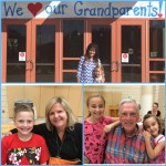 Photo collage of Grandparents Day at Woodstock Elementary