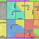 Screenshot of elementary school boundaries