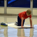 Photo of Churchill Jr High student doing yoga
