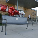 Photo of new bench at Crestview Elementary