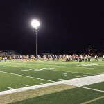 Photo of Taylorsville High dancers performing on football field