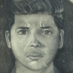 Photo of student self-portrait