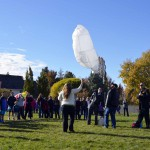 Photo of hot air balloon rising at Rosecrest Elementary