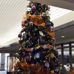 Photo of decorated tree inside Granite Education Center