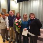 Photo of Diamond Ridge teacher receiving National Board certificate