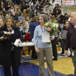 Photo of Hunter High teacher receiving National Board certificate