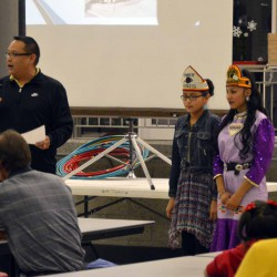 Photo of two students at Native American Cultural Night