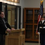 Photo of Olympus High principal and Taylorsville JROTC members