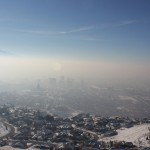 Photo of Salt Lake Valley during temperature inversion