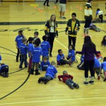 Photo of Kearns High SBOs playing games with kindergarten students