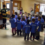 Photo of Kearns Network kindergarteners entering Kearns High classroom