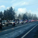Photo of police motorcycle procession