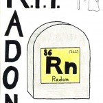 Student-created poster detailing dangers of radon gas