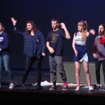 Photo of Skyline High students performing ASL play