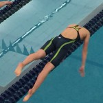 Photo of Skyline High swimmer diving into pool
