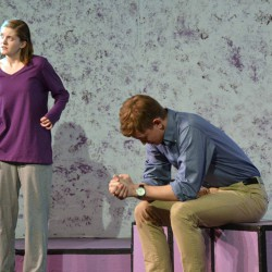 Photo of Cottonwood High actors performing scene