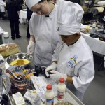 Photo of Future Chefs participant measuring ingredients