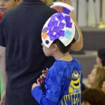 Photo of Oquirrh Hills student with makeshift hat