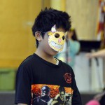 Photo of Oquirrh Hills student wearing colored mask