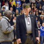 Photo of veterans addressing Taylorsville High students