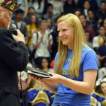 Photo of Taylorsville High receiving essay contest award