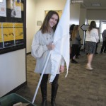 Photo of Churchill Jr High student with History Day project