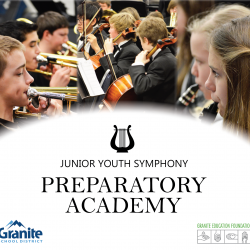 Advertisement for Junior Youth Symphony Preparatory Academy