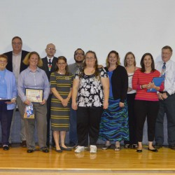 Photo of Region 5 PTA Award recipients on stage