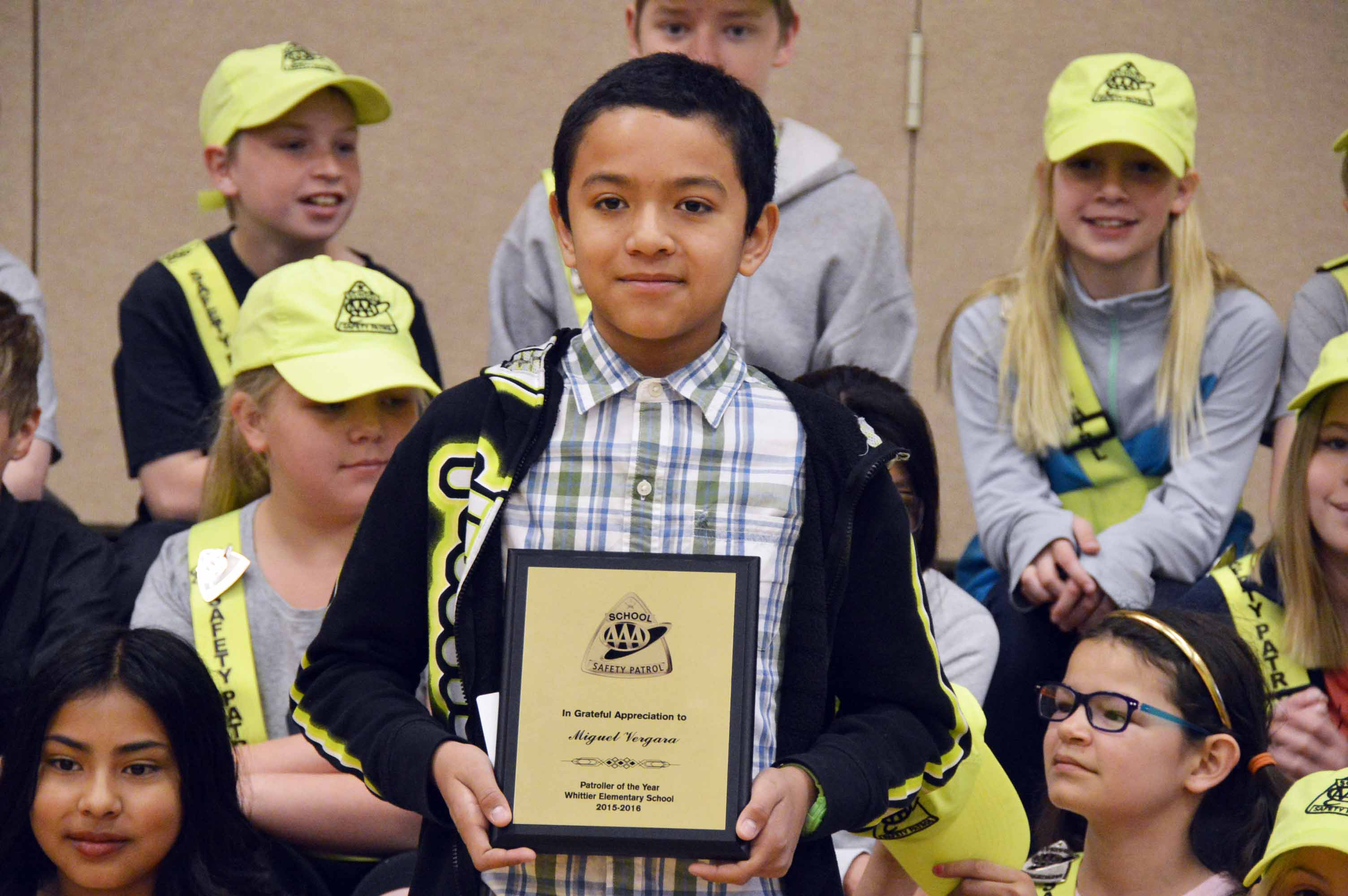 Whittier Elementary Student Named Aaa Safety Patroller Of