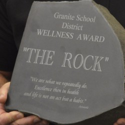 Photo of 'The Rock' Wellness trophy
