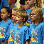 Photo of Westbrook Elementary choir performing during board meeting