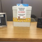 Photo of District Wellness Challenge trophy and prizes