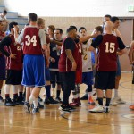 Photo of Brockbank Jr High alumni playing basketball