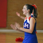 Photo of Brockbank Jr High cheerleader performing