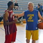 Photo of Brockbank Jr High alumni playing basketball