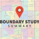 Boundary map with text overlay 'Boundary Study Summary'
