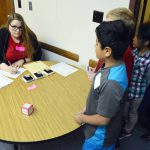 Orchard Elementary students go through a mock immigration process