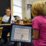 Orchard Elementary student go through a mock immigration process