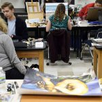 Students create paintings during Art Olympics