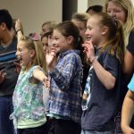 Bridger Elementary students sing during board meeting