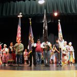 Ute Tribe members perform flag ceremony