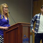 Skyline debate coach and student address the board of education