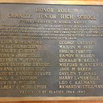 WWII bronze plaque at Granite Park Jr. High