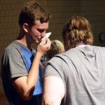 Bennion Jr. High student wipes tears