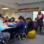 Rolling Meadows teacher lecturing students