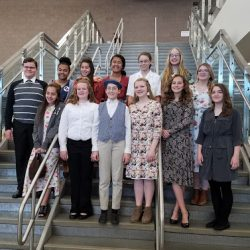 Kennedy students posing for photo at History Day competition