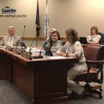 Sarah Meier speaks during board meeting