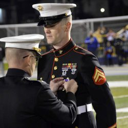 Cyprus math teacher is awarded the Purple Heart