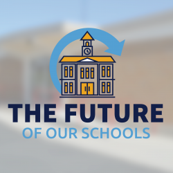 Vista Elementary with school logo and text 'The Future of Our Schools'