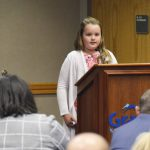 Vista Elementary student speaks during board meeting